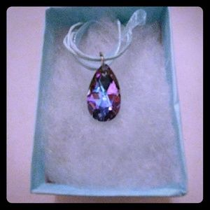 Jewelry - Paradise Pink Crystal Teardrop Necklace